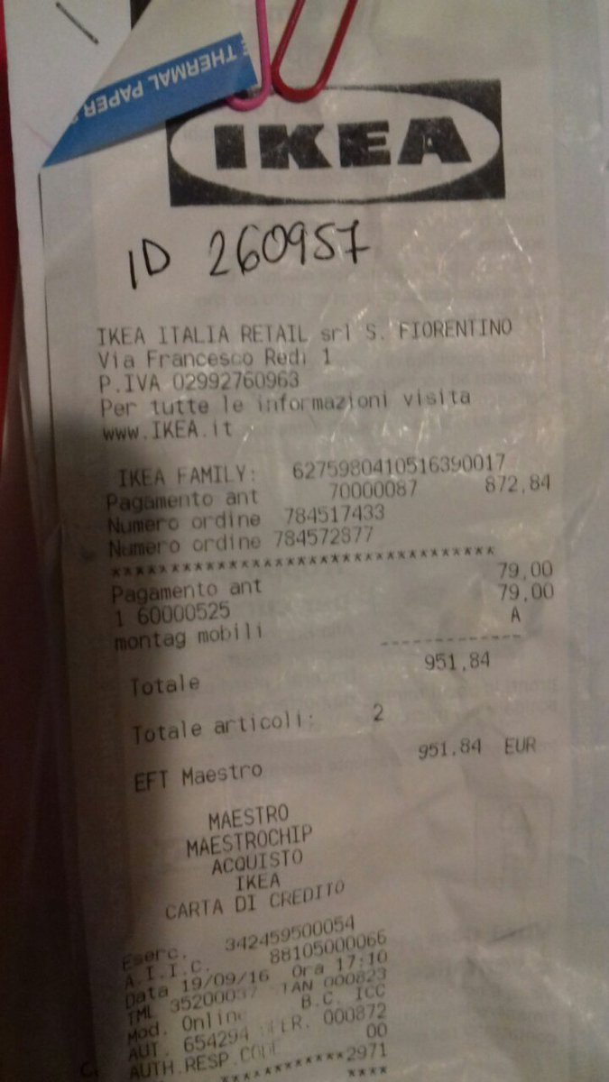Ikea على تويتر Ciao Marco Ci Dispiace Molto Per Lattesa