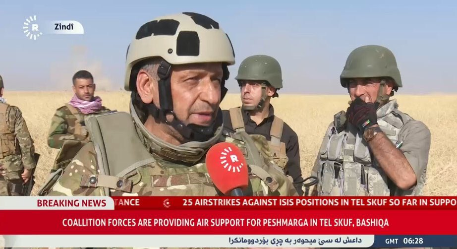 Coalition Air Force coordinates with Peshmerga troops in anti-ISIS efforts, providing them with air cover