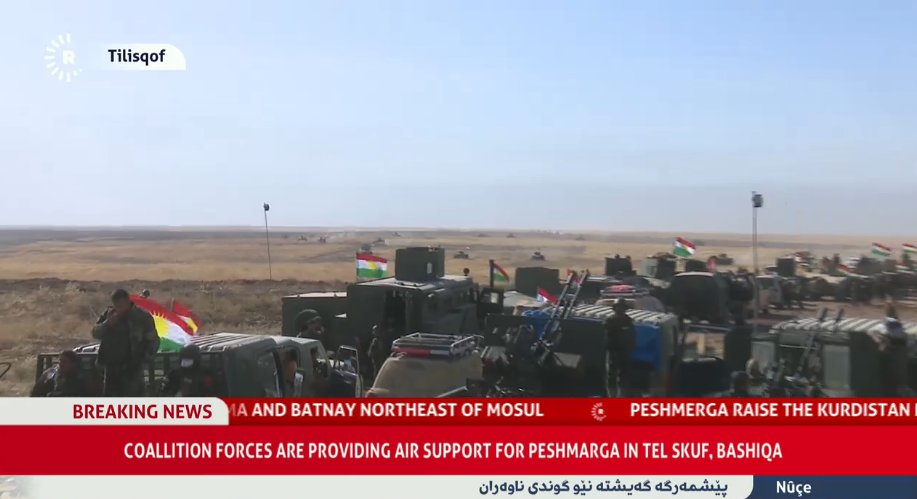 Peshmerga forces on advance between Batnay and Tall Kayf, North to Mosul