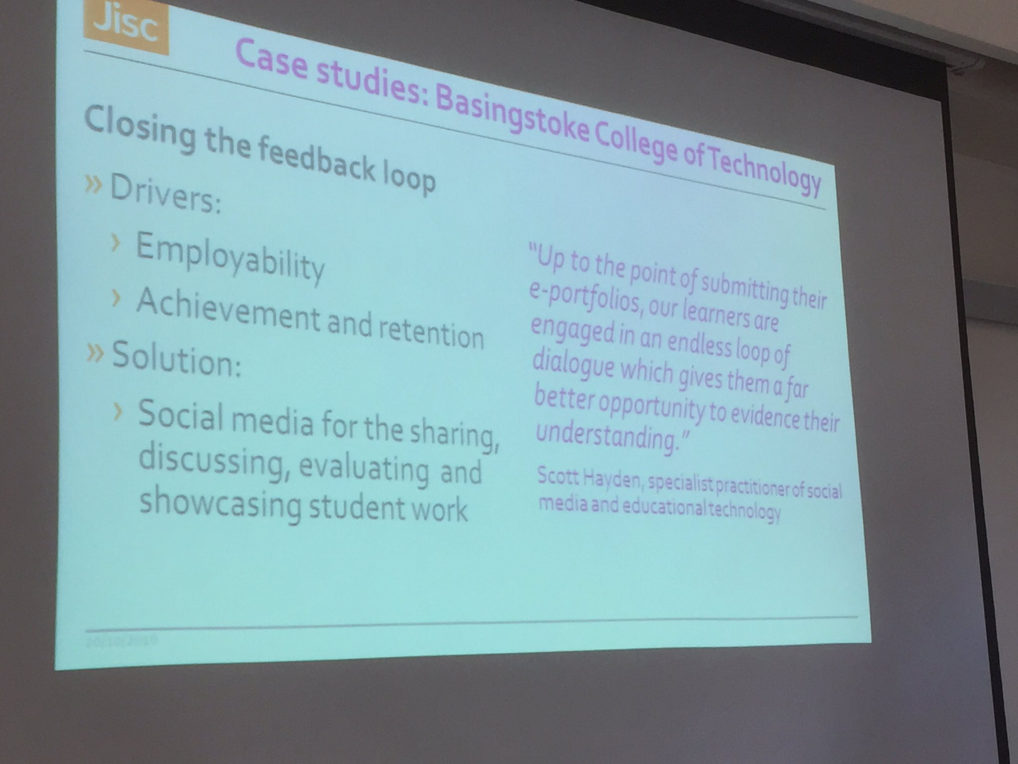 Case studies of effective assessment practice from @Jisc shout out to fab work from @bcotmedia #feltag https://t.co/2EjnEKg4jV