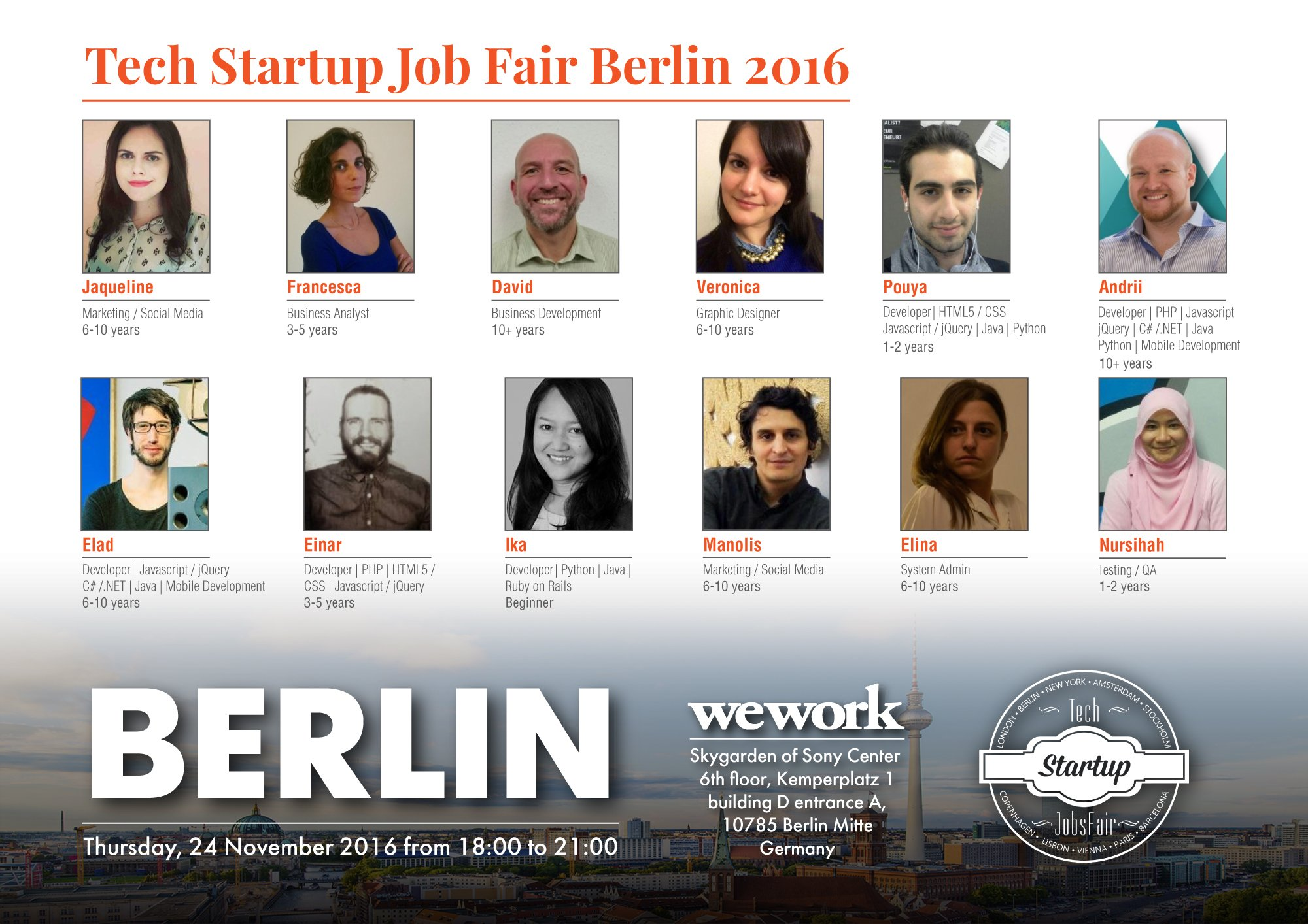 A Must-Attend #hiring #event in Berlin for #tech #startups https://t.co/kikVuwUpMQ A great way to network with experienced & skilled techies https://t.co/oOThY1ou3z