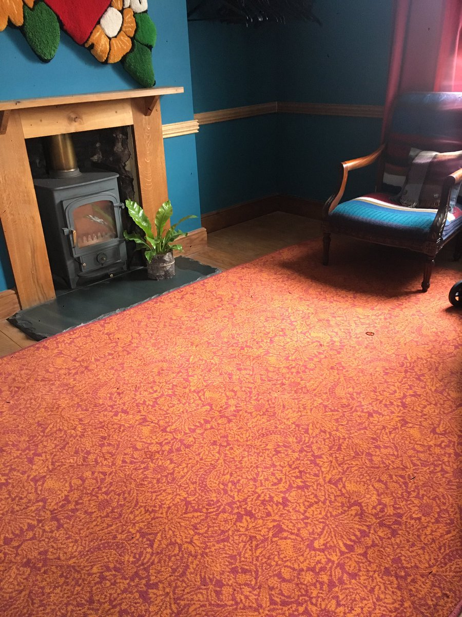 Loved the new @AlternativeFlr @LibertyLondon rugs looking completely stunning in the #woolbnb house for #woolweek @Campaignforwool