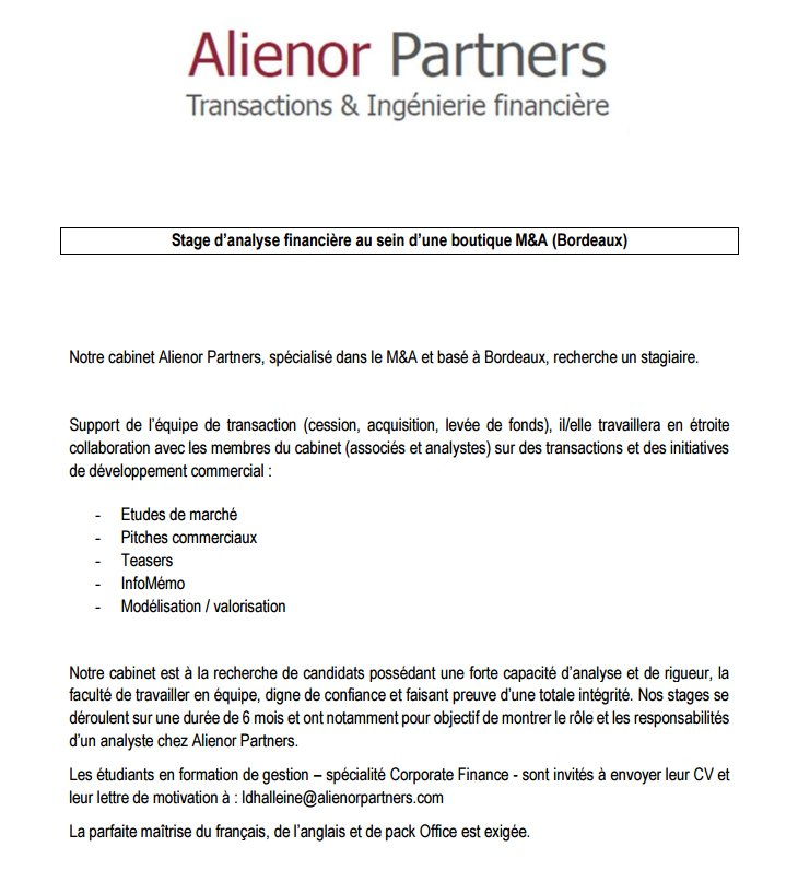 Alienor Partners On Twitter Alienor Partners Recherche Un