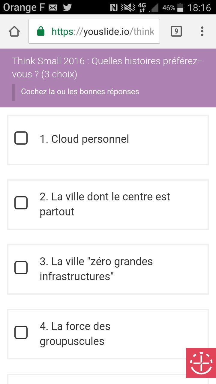 Choix des histoires par vote en ligne en direct  #QNFing #prospective #lesdunes #leplateau Merci #youslide ;) https://t.co/6p6GS2MWfg