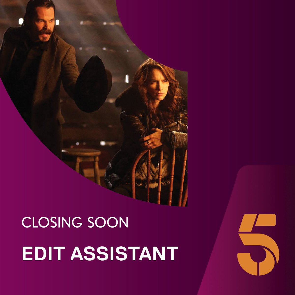 viacom talent on closing soon channel s in house viacom talent on closing soon channel 5 s in house post production looking for an editassistant to join their team t co lmdu60szbs