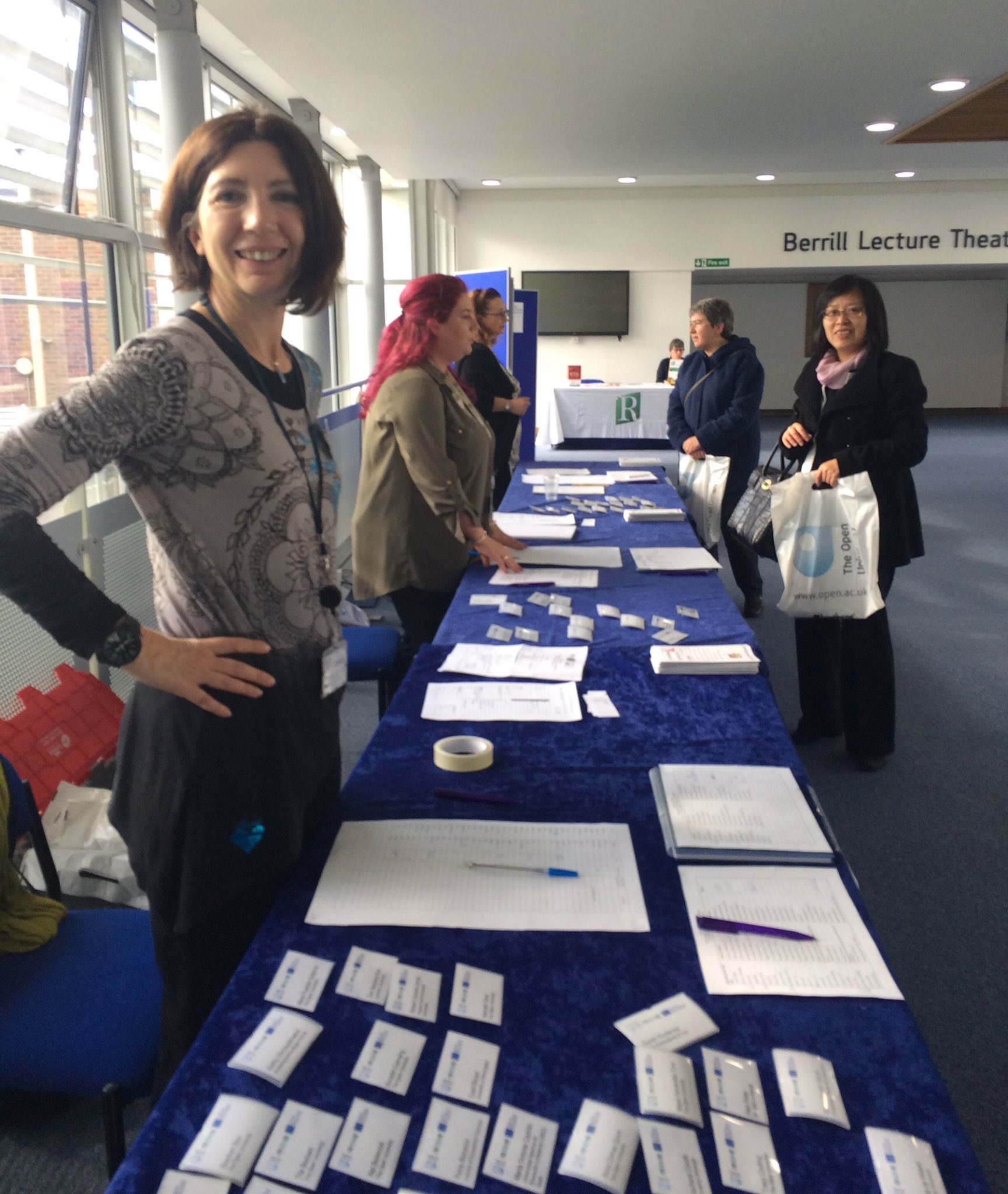 Conference registration at Berrill Lecture Theatre landing area #IC_MOVEME @MoveMe_eu @OpenUniversity https://t.co/XUfbMUCacw