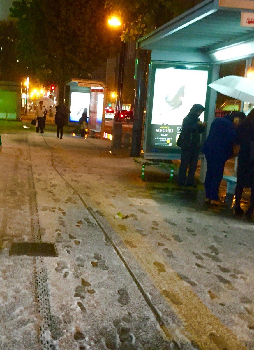 【今日の札幌】外に出ると雪。明日は冬靴かな。 https://t.co/Ao60pxuOex