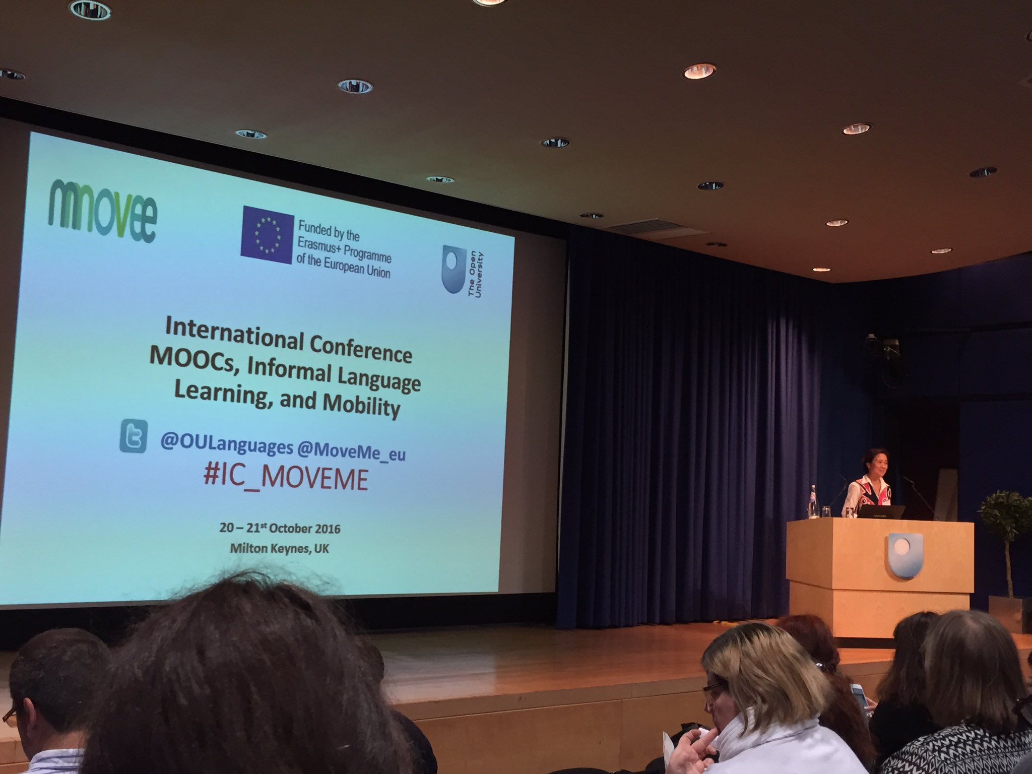 .@DrKanQian welcomes attendees to the @MoveMe_eu conference. #IC_MOVEME https://t.co/pwSVmDX7jJ