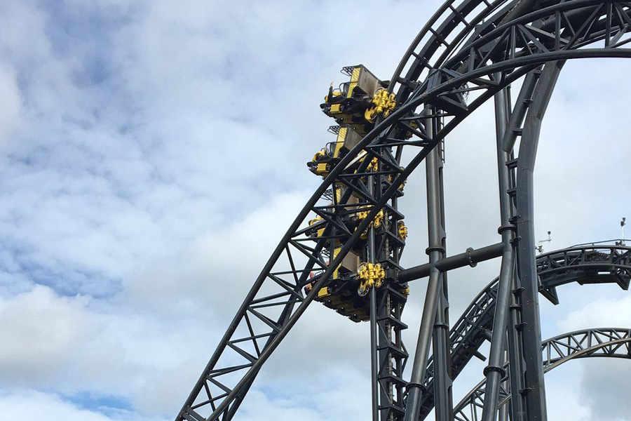 roller coaster crash
