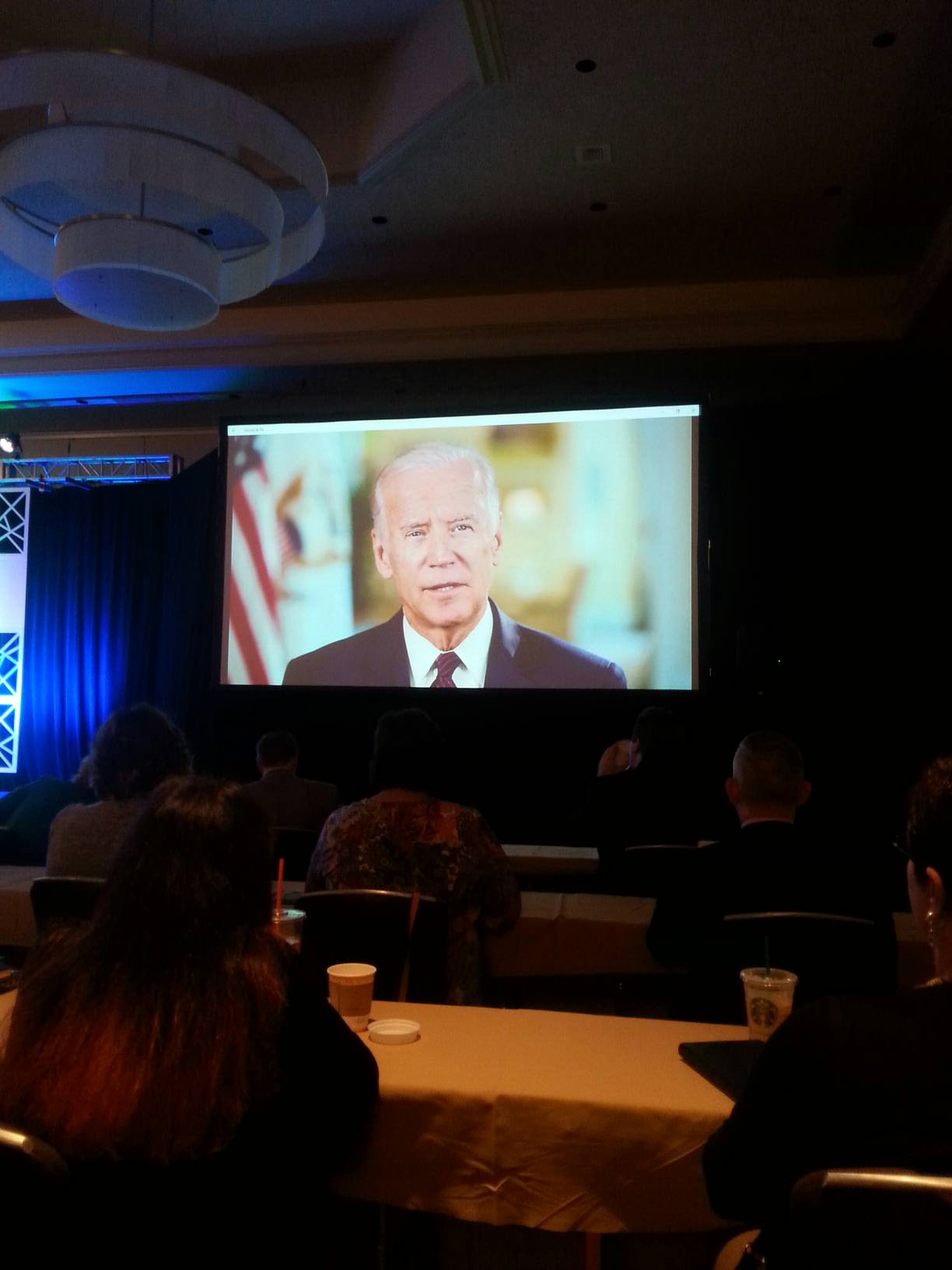 .@VP delivers special message to #ACCCNOC attendees and thanks the community cancer care team members! #cancermoonshot https://t.co/YWKckw9eOU