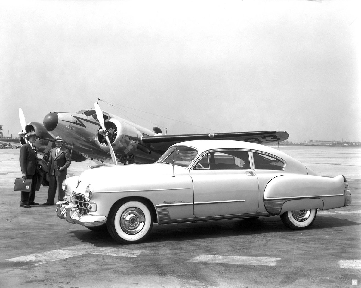 The ultimate first-class ride – the 1948 Cadillac series 62 Club Coupe. #tbt#t