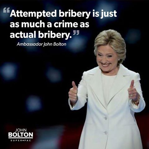 Retweet if you agree: attempted bribery is just as much a crime as actual bribery. Period. #ClintonEmails https://t.co/AQJAGwZIXT