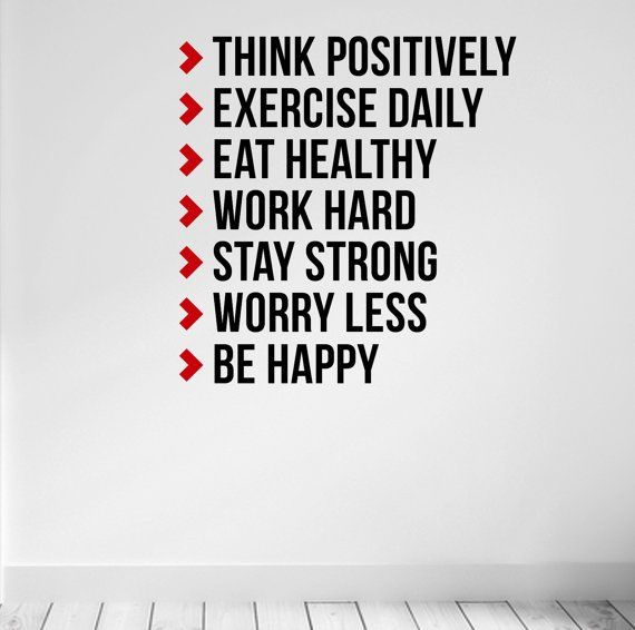 WallArt Think Positive!! Quality motivate decal for the gym homegym diy
