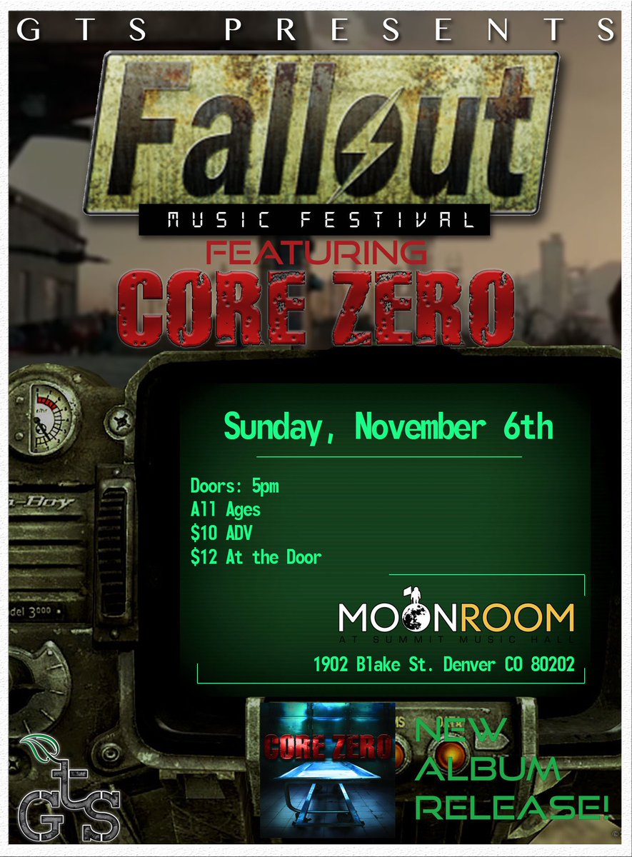 ALL AGES SHOW FEATURING CORE ZERO (@CoreZeroDenver ) AT THE MOON ROOM IN DENVER ON NOVEMBER 6TH https://t.co/rpMfrS0SVL