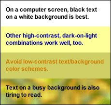 Having eye strain on a screen? Make sure your background and font color are optimum for viewing! #eyestrain #allaboutvision <br>http://pic.twitter.com/hzxiKeCBmQ