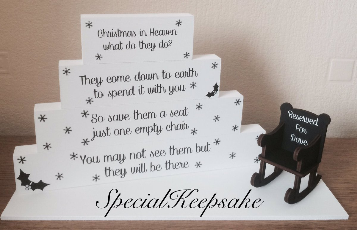 Christmas In Heaven Chair.Special Keepsake On Twitter Christmas In Heaven Stacking