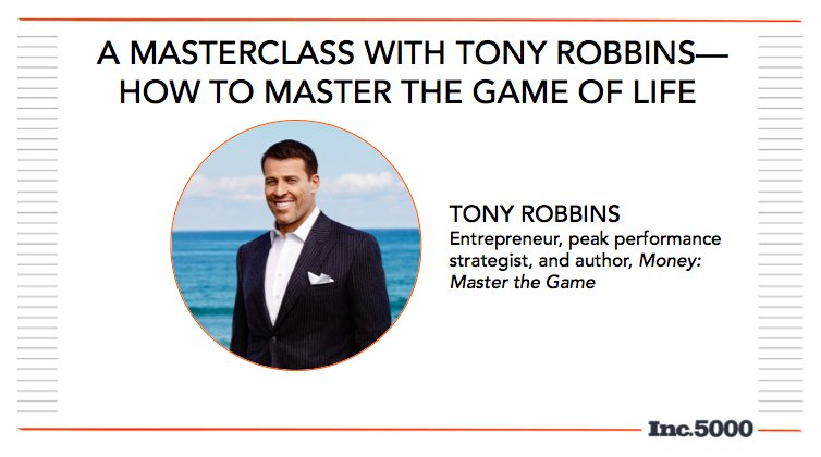 Up next, @TonyRobbins on how to master the game of life. #Inc5000 https://t.co/DR1jVktXaw