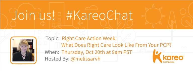 Welcome to #KareoChat with today's host, @melissarvh: https://t.co/CDzfSkmV7Q Roll call! And were you aware it was #RightCareActionWeek? https://t.co/BAFJHTeVrj