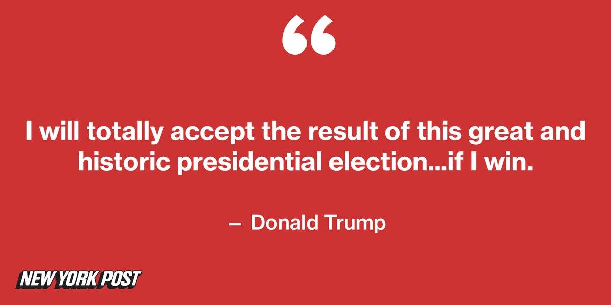 Donald Trump will