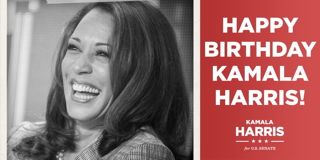 Kamala Harris On Twitter Rt To Wish Kamala A Happy Birthday Happybirthdaykamala