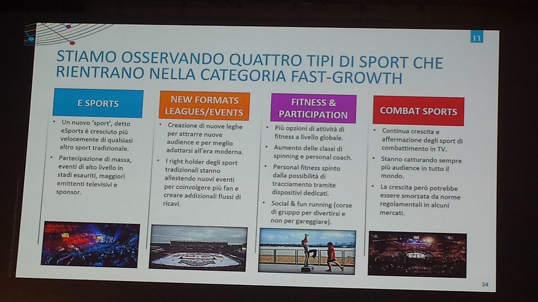 Le aree di maggiore crescita per lo #sportsbiz: #esports, nuovi tornei ed eventi, #fitness, #running, #combatsports #ForumSport https://t.co/uEAN1HzsDl