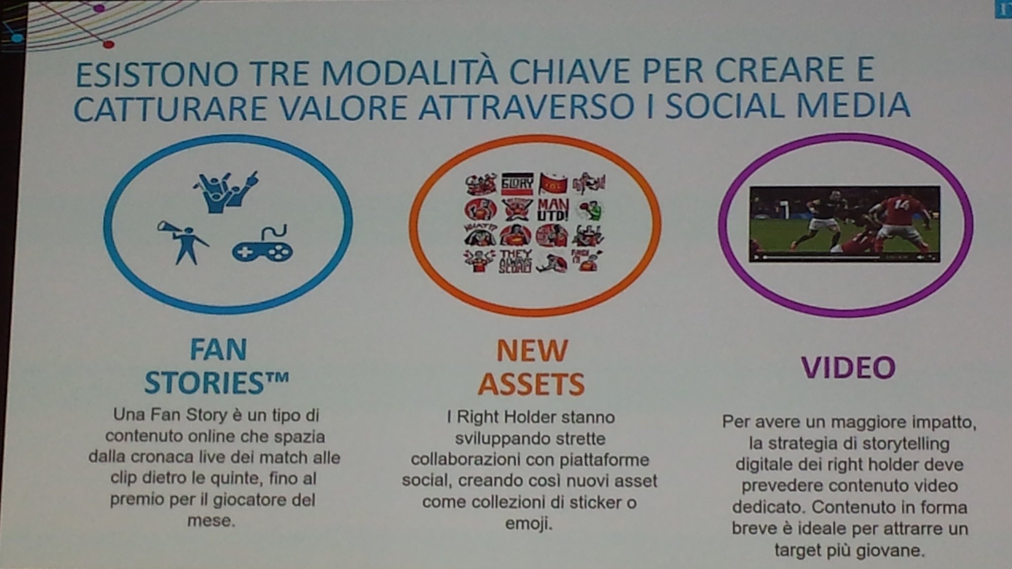 Fan stories, nuovi assets e video: la ricetta per creare valore attraverso i #socialmedia #ForumSport #SocialMediaMarketing https://t.co/OlrUMAVCOy