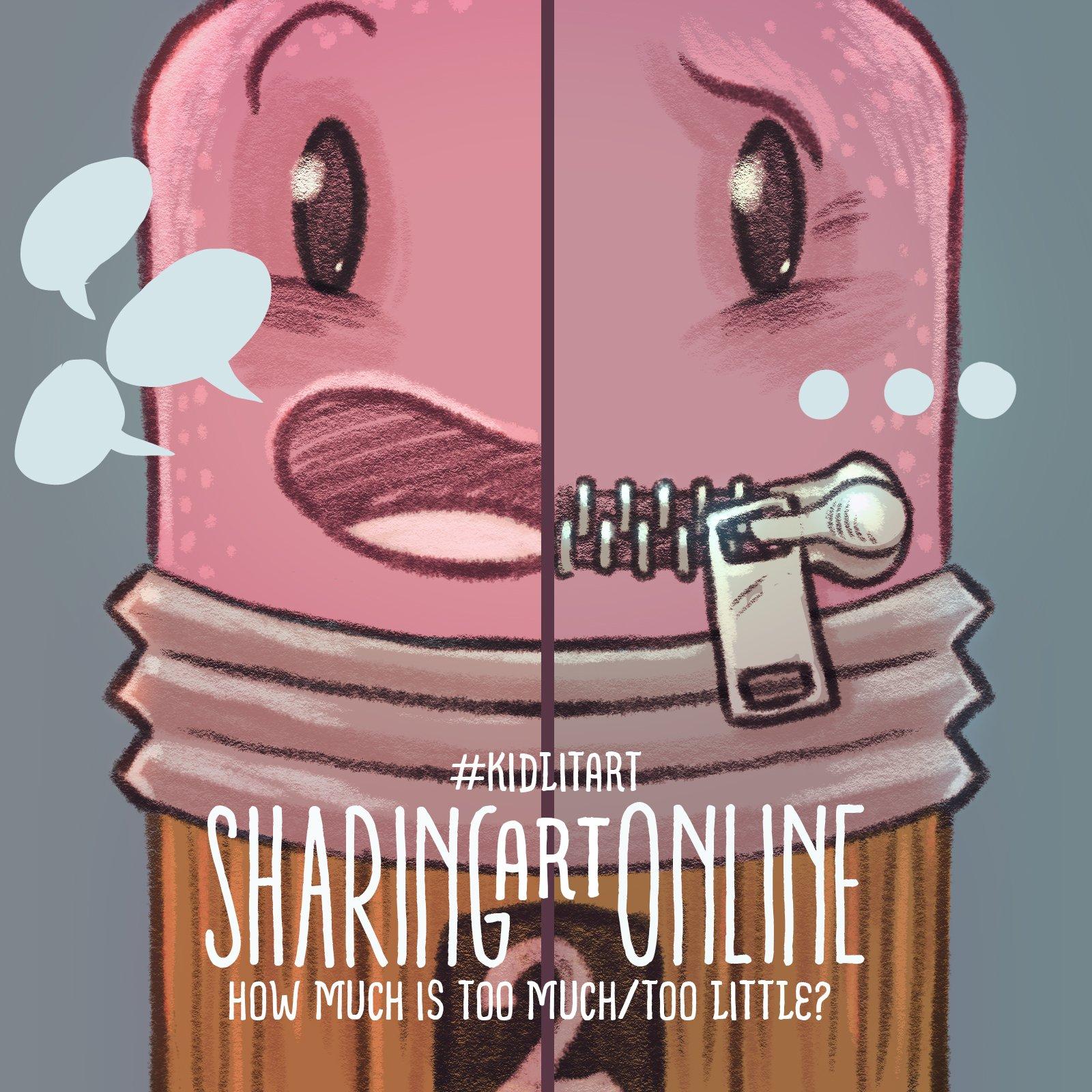 Thumbnail for #kidlitart Sharing Art Online 10-20-16