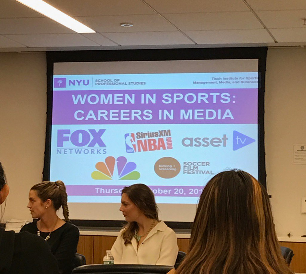 What a great opportunity to get some light on my career. #WomenInSports #nyutischsports https://t.co/KKc8nKIjmk