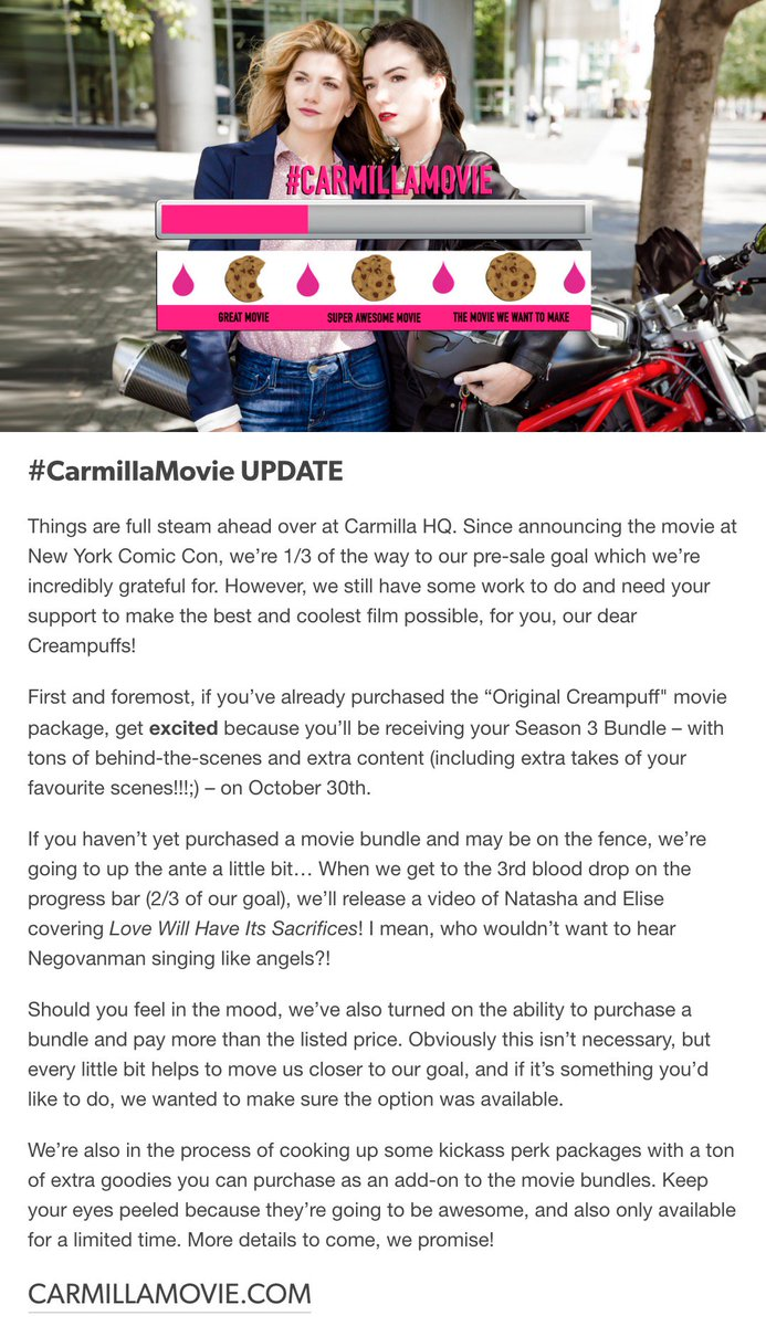 carmilla series on twitter we ve got a carmillamovie update