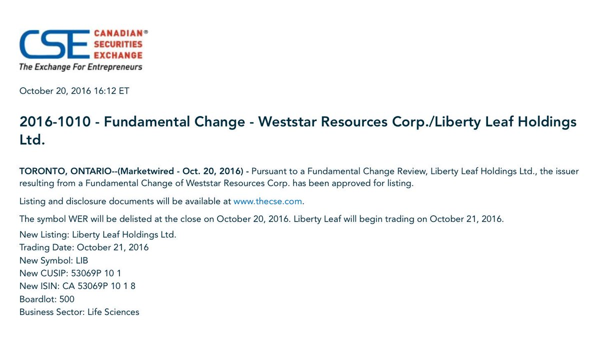 Liberty Leaf On Twitter We Are Pleased To Announce That