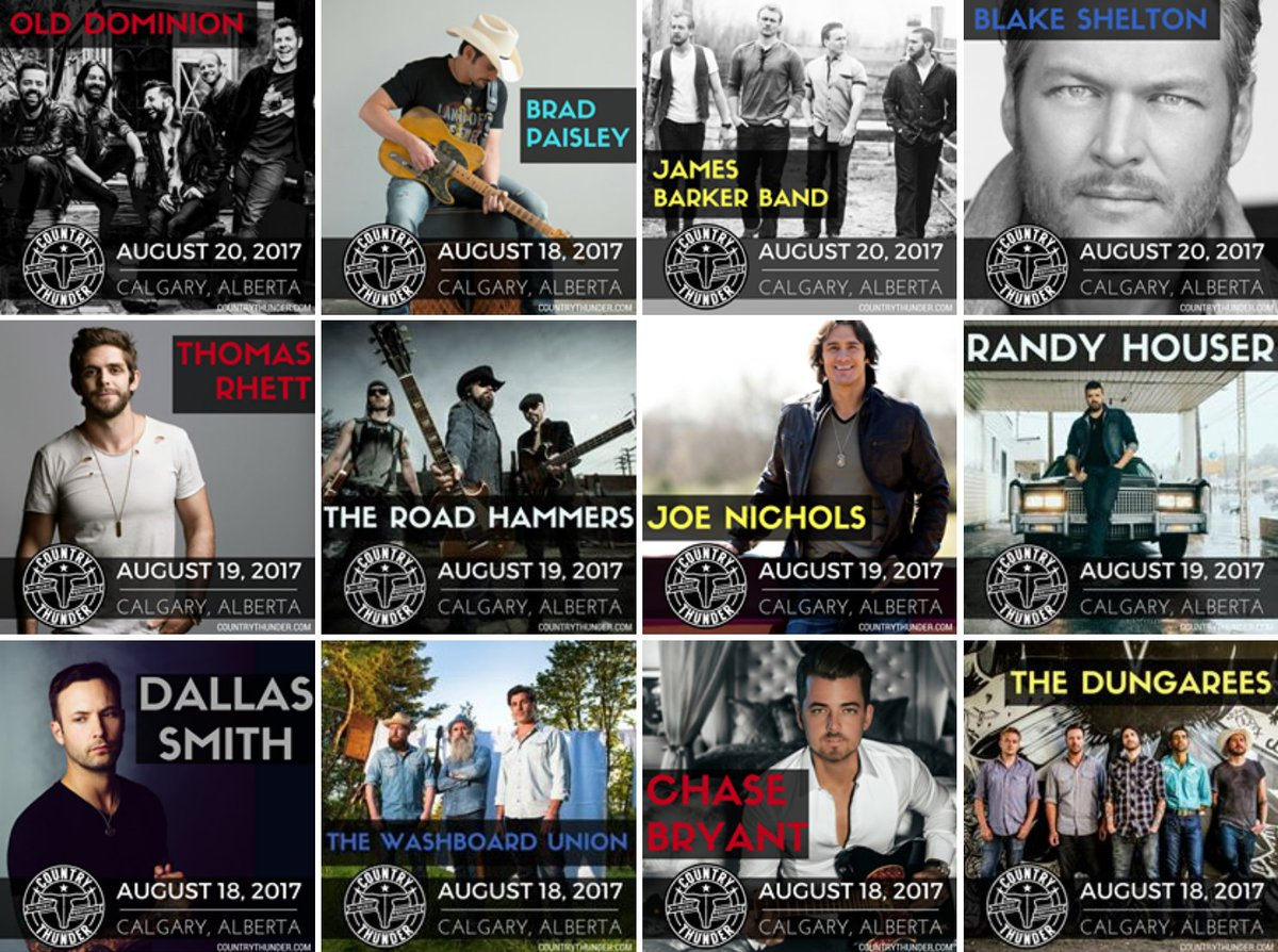 Country Thunder On Twitter Alberta Here It Is Check Out