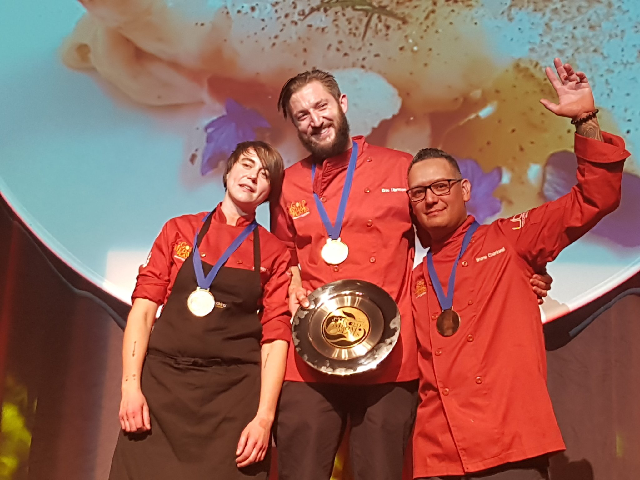 Podium finishers at #gmpedmonton  GOLD to @ChefEricHanson, silver to @DoreenPrei , & bronze to @chefchartrand 🎉Congratulations!🎉 https://t.co/mqDEgrKeJT