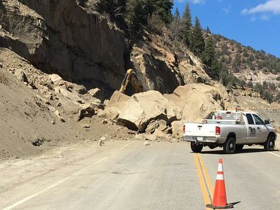 Massive rock slide across western Colorado highway will have route closed for days