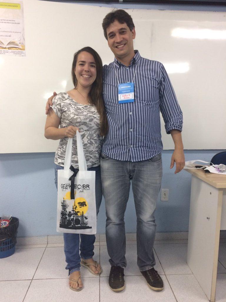 Dia 4 #nabucoIoTweek premiando mais um aluno com sorteio patrocinado pela #comissaoOrganizadora Parabéns, Morgana! @FNabuco
