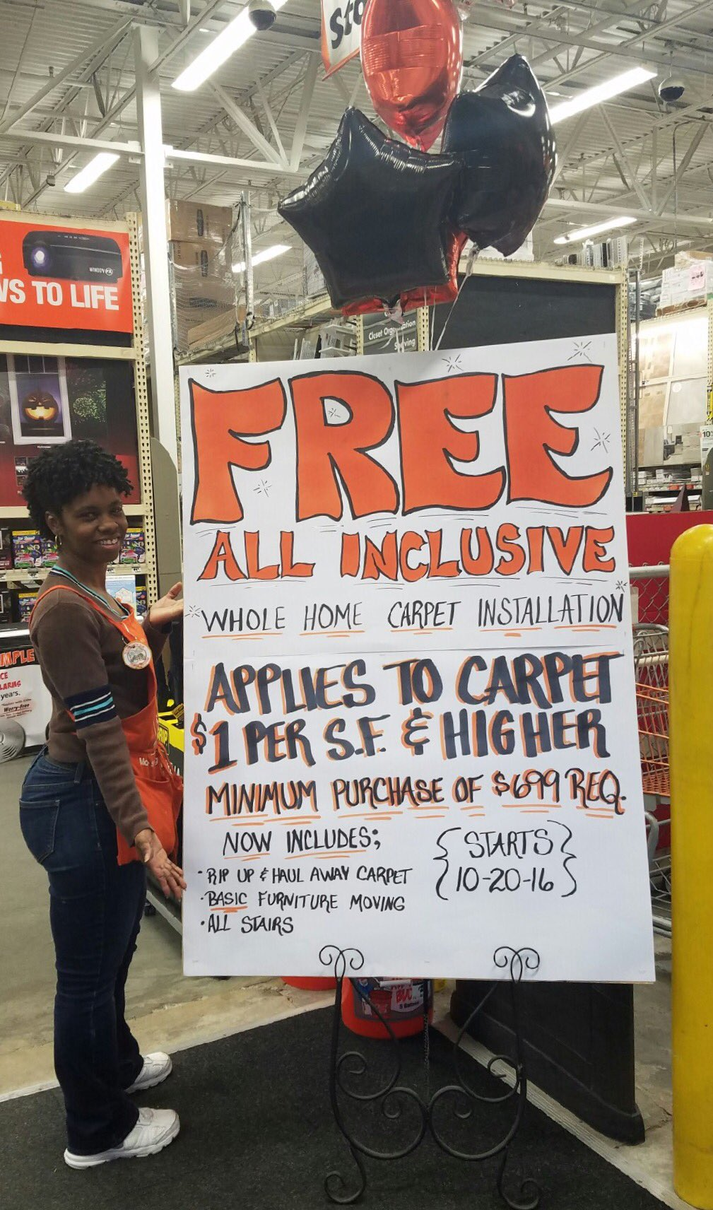 Susan Froude On Twitter That S Right Home Depot Totally Free Carpet Install It Hening Now