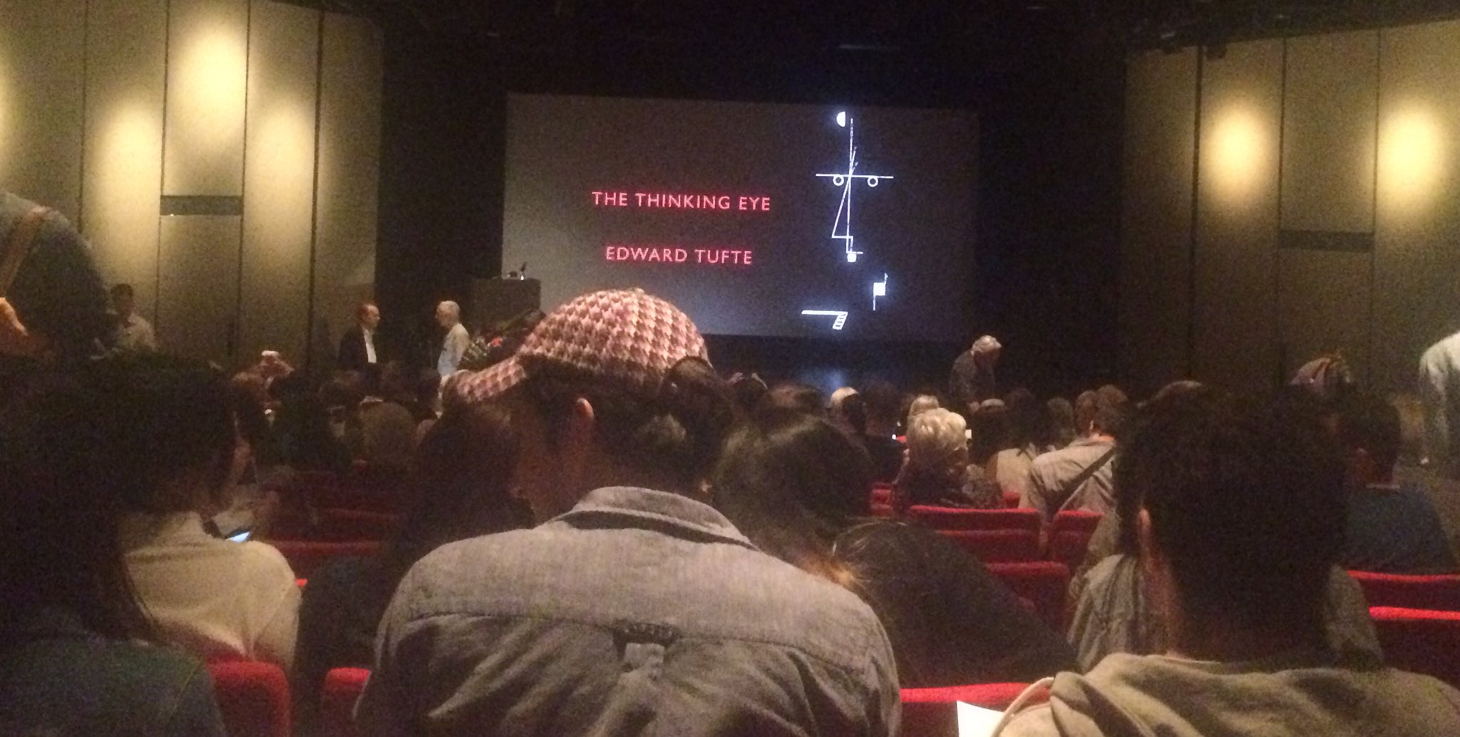 Couldn't miss the @EdwardTufte lecture at @artcenteredu @InnovatPasadena for the world! https://t.co/T47E8qypAN