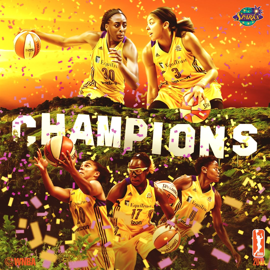 The @LA_Sparks are 2016 WNBA Champions!! #WatchMeWork #WNBAFinals