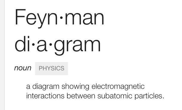 FYI, what a Feynman diagram is... https://t.co/GYytJmfbe2