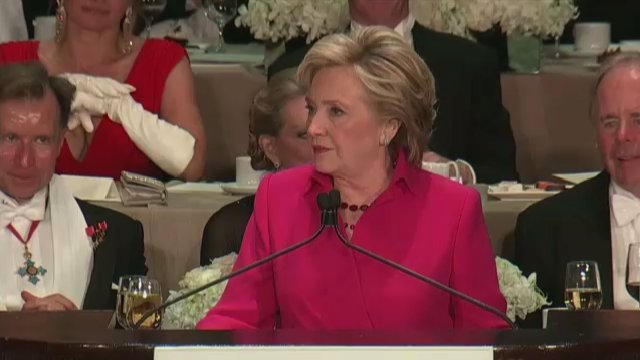 And here's @HillaryClinton's full speech from the Alfred E. Smith dinner. WATCH