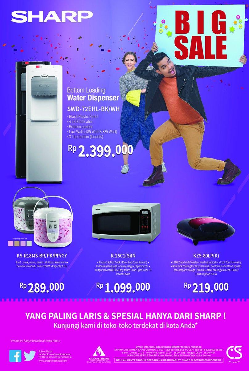 Sharp Indonesia On Twitter Untuk Sahabat Yang Berada Di Dispenser Bottom Loading Swd 72ehl Bk Wh Surabaya Dan Sekitar Dapatkan Promo Produk Small Home Appliances Dari Mulai