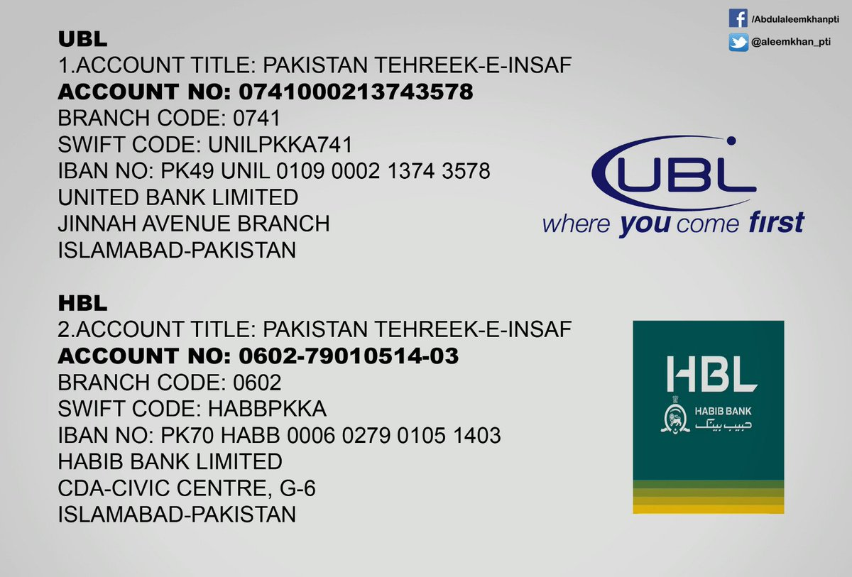 Ubl Swift Code