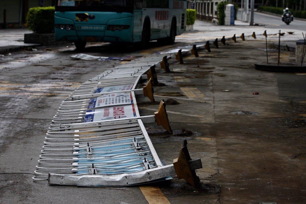 Hong Kong shuts down as Typhoon Haima lashes city