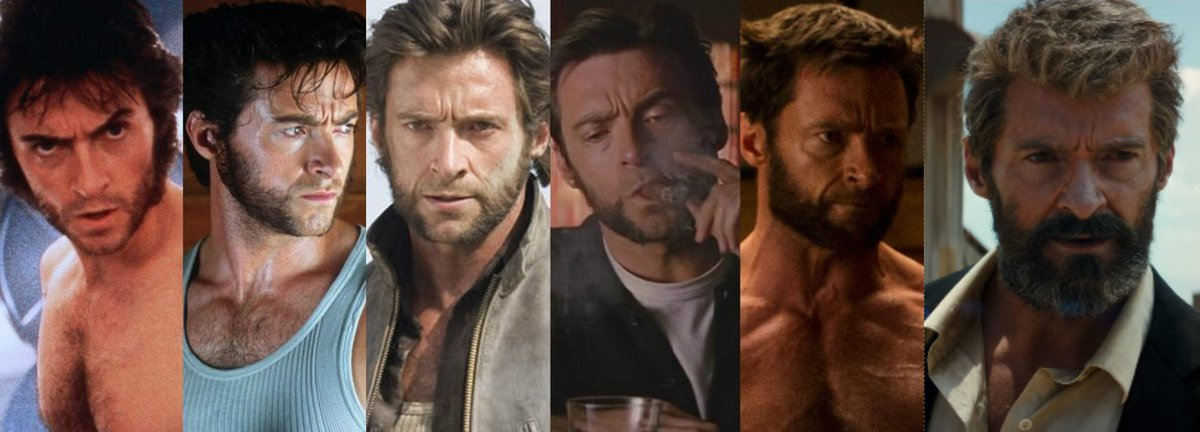Resultado de imagem para hugh jackman wolverine through the years