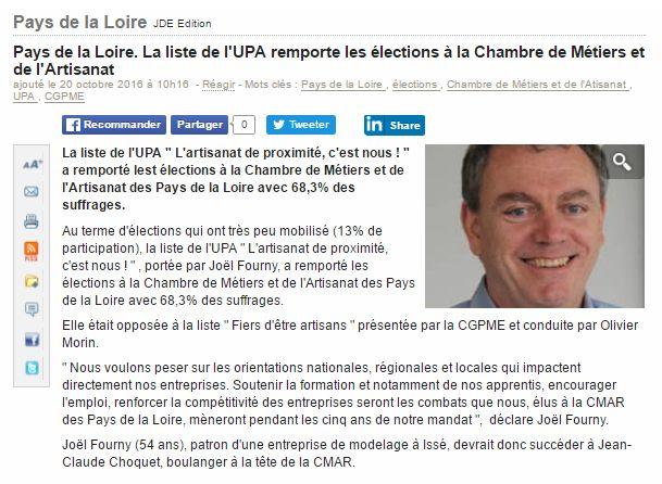 Jo l fourny joelfourny twitter - Chambre des metiers pays de la loire ...