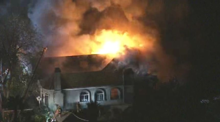 Fire Burns 3-Story Mansion In Mt. Washington