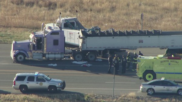 Driver dies after being run over by semitruck in Broomfield
