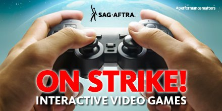SAG-AFTRA Members Declare Video Game Strike #performancematters #sagaftramember https://t.co/3Mp0ZG31SY https://t.co/h6pR0g1UDY