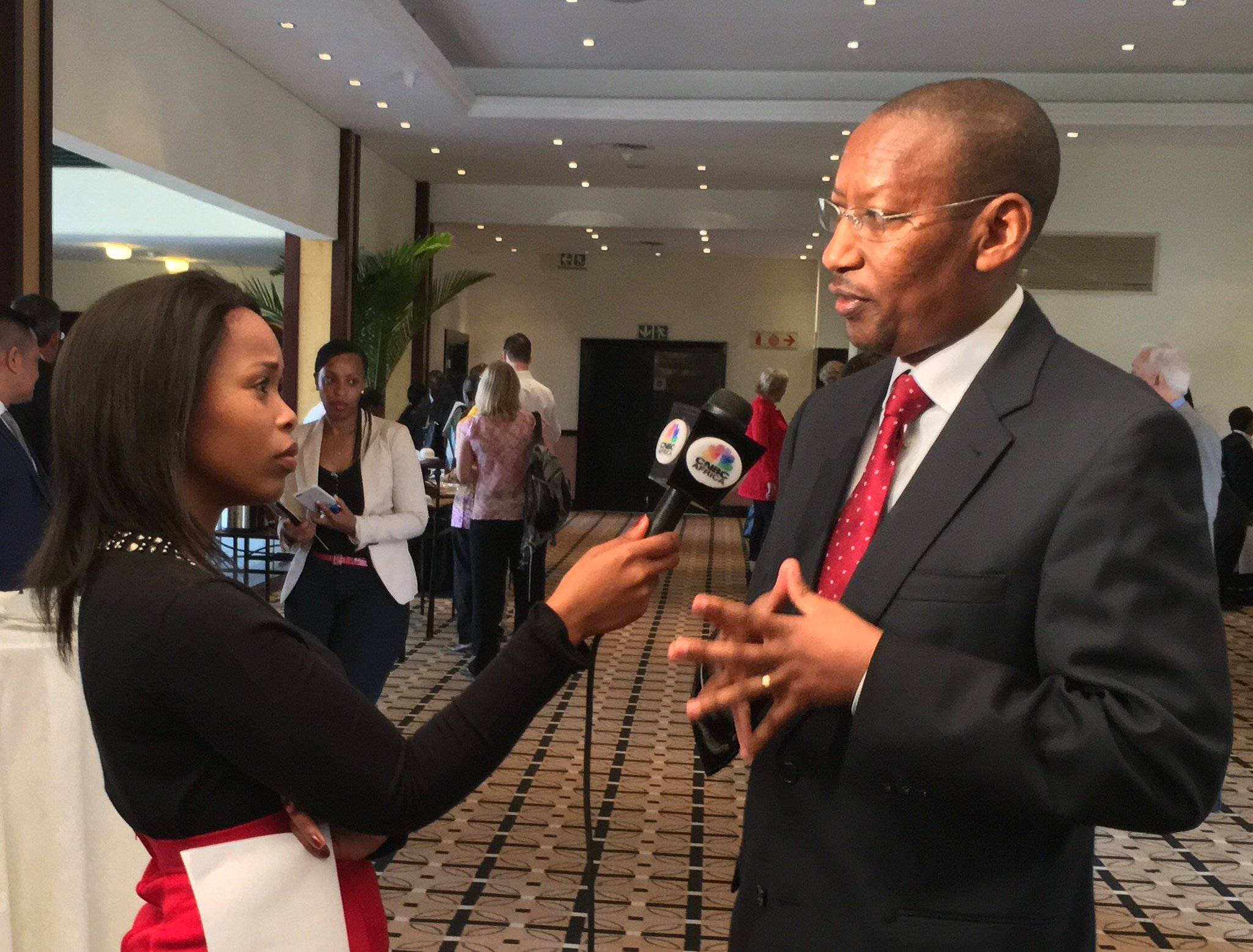 As we get ready, exciting to see @rwangombwajRW  & @cnbcafrica 's @TheRealNozi discussing #FinancialInclusion #clientcentricity #SoFI2016 https://t.co/7SHNDTQGE4
