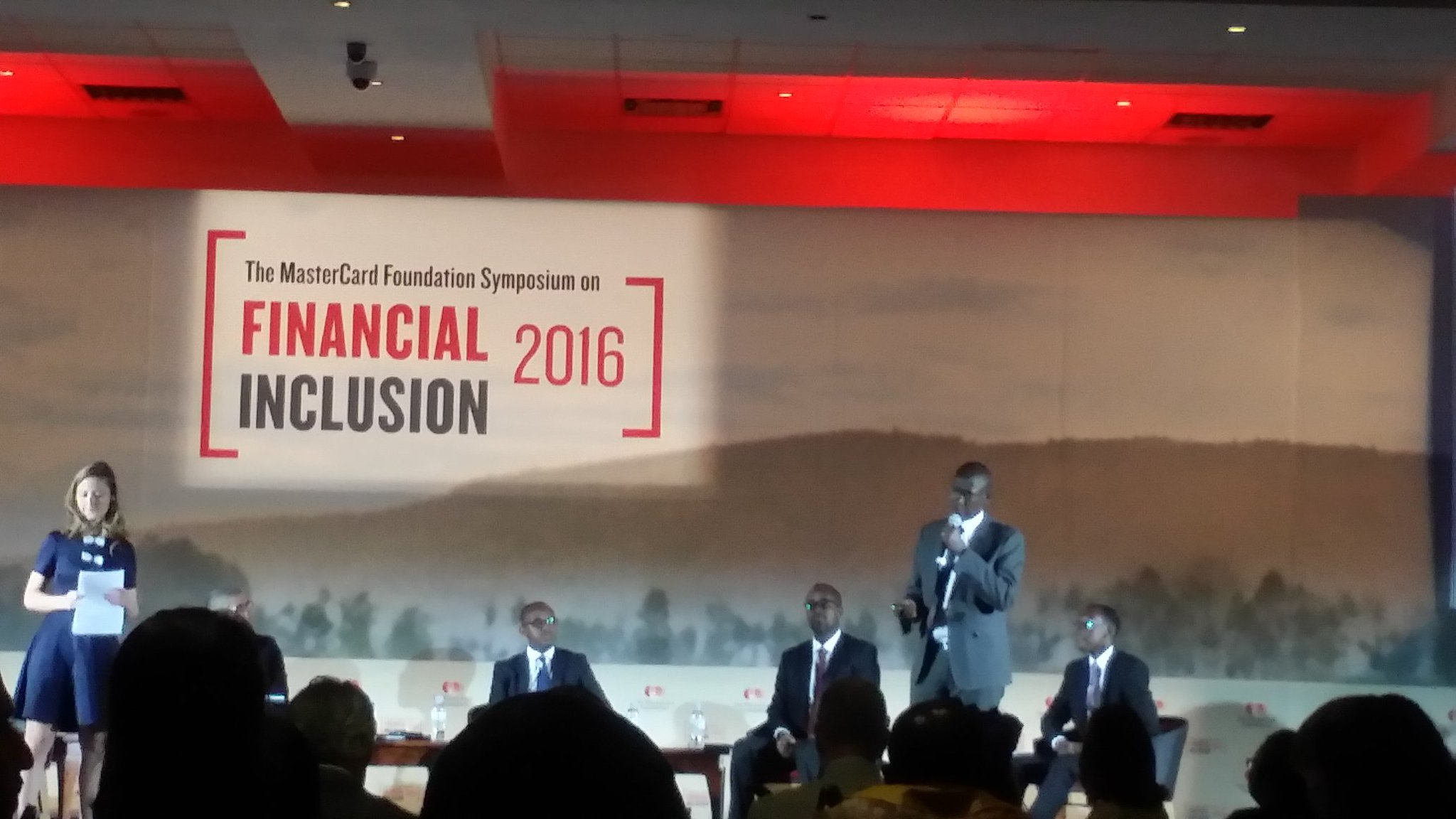 Mr.Murenzi telling us about the impressive financial inclusion achievements in Rwanda 89% included #BNR #sofi2016 https://t.co/2E5F7vTcSE