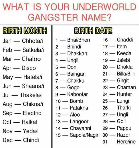 Best gangster name